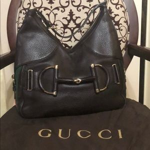 Leather GUCCI hobo bag